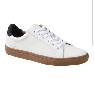 Banana Republic White Leather Nicklas Sneaker Shoe